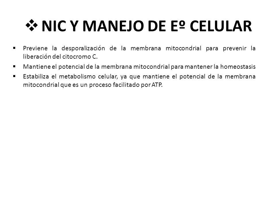 NIC Y MANEJO DE Eº CELULAR