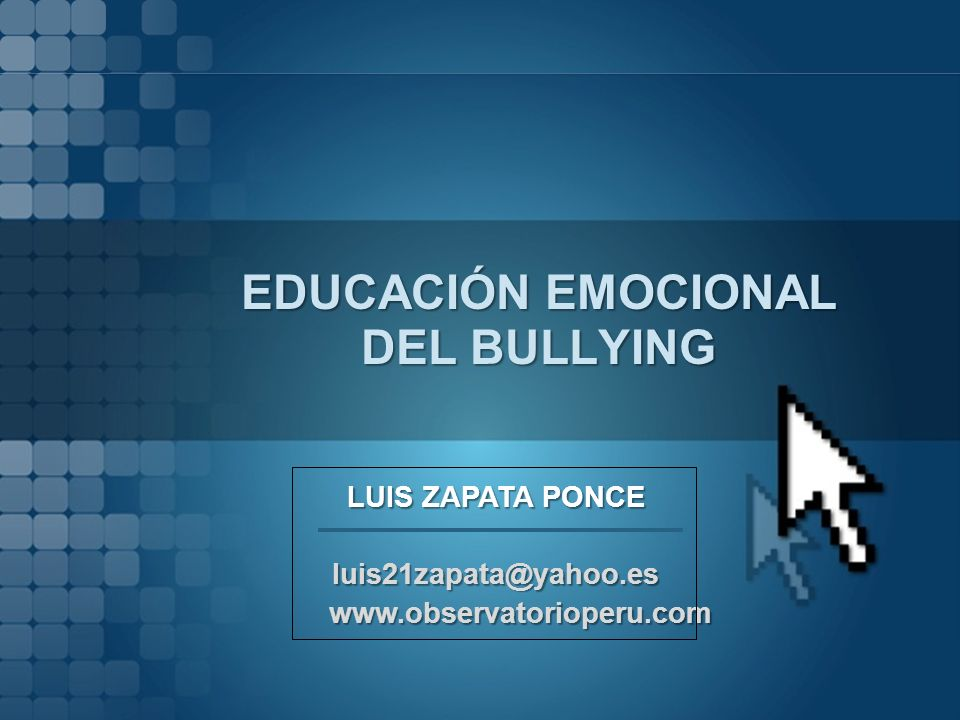 EDUCACIÓN EMOCIONAL DEL BULLYING