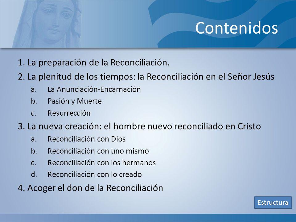 Contenidos 1. La preparación de la Reconciliación.