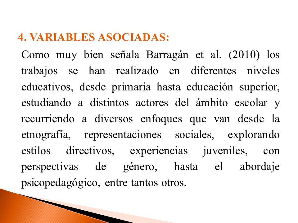 4. VARIABLES ASOCIADAS:
