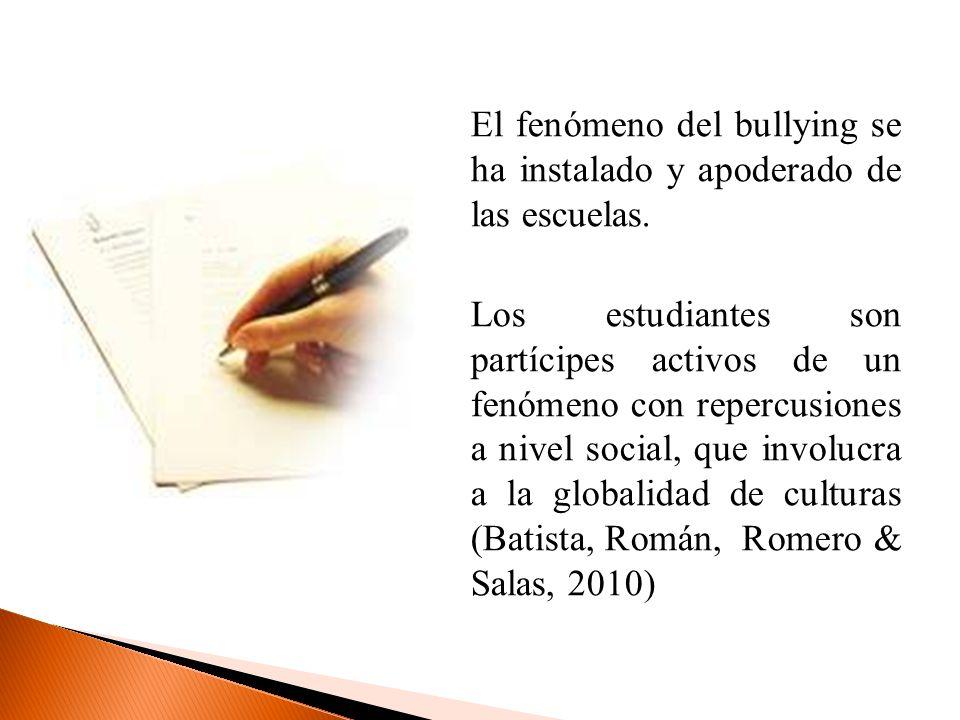 El fenómeno del bullying se ha instalado y apoderado de las escuelas