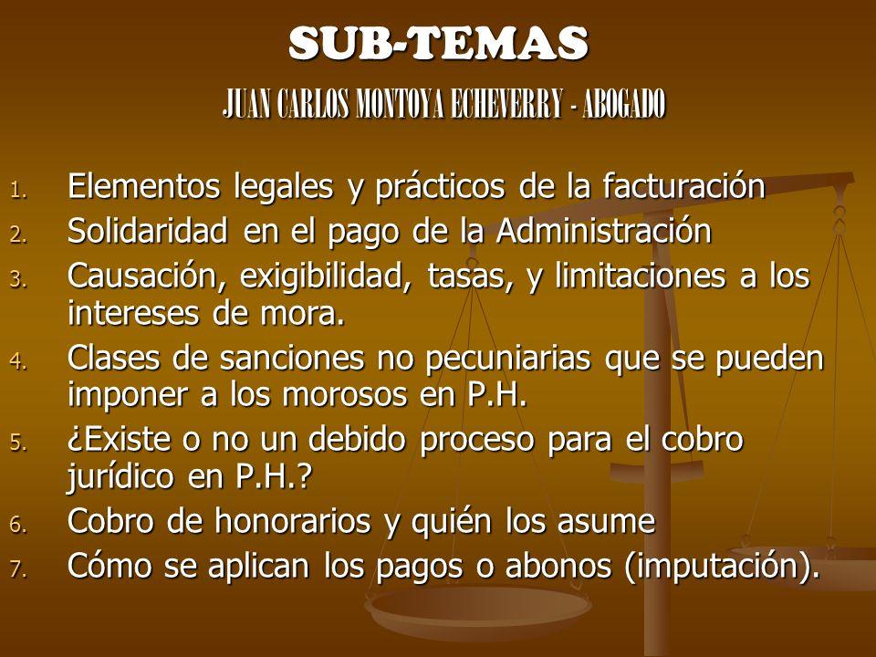 SUB-TEMAS JUAN CARLOS MONTOYA ECHEVERRY - ABOGADO