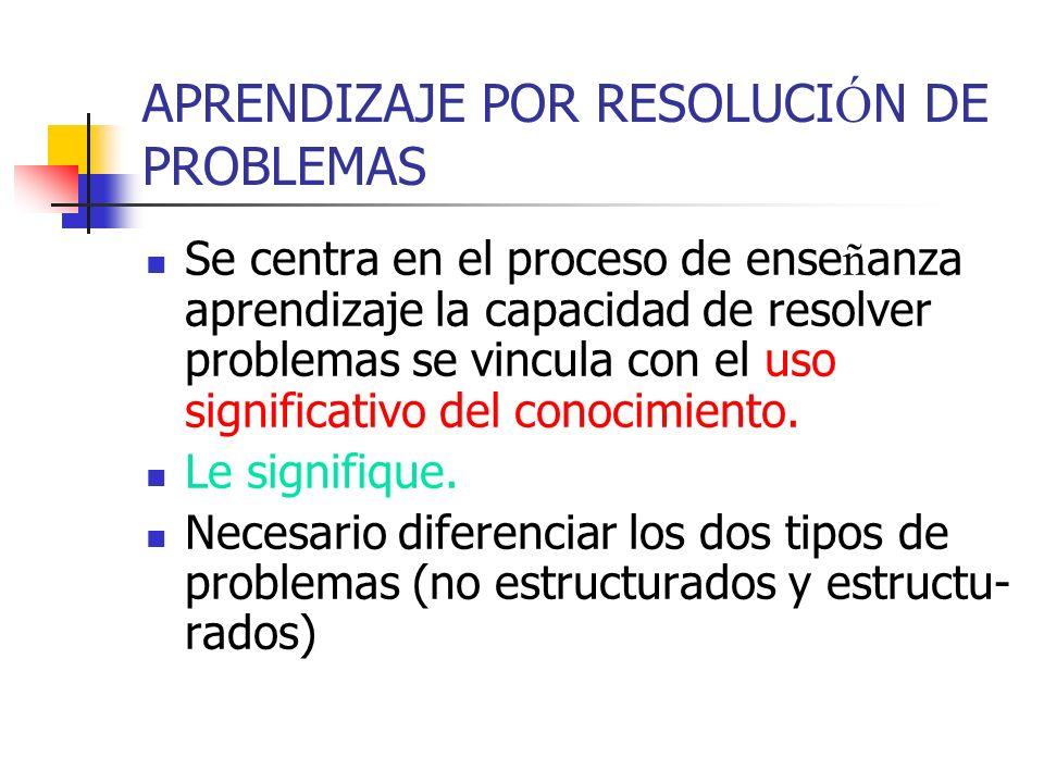 APRENDIZAJE POR RESOLUCIÓN DE PROBLEMAS