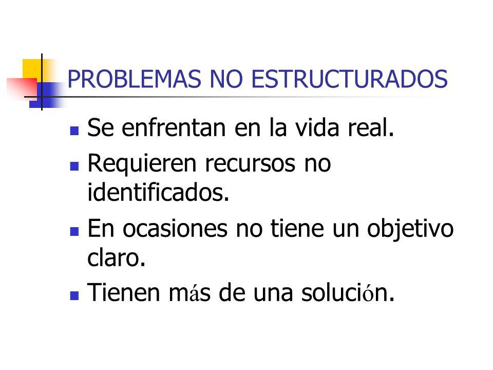 PROBLEMAS NO ESTRUCTURADOS