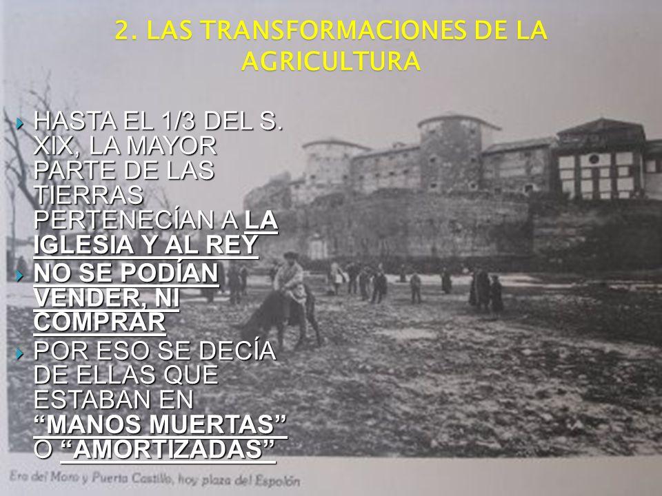 2. LAS TRANSFORMACIONES DE LA AGRICULTURA