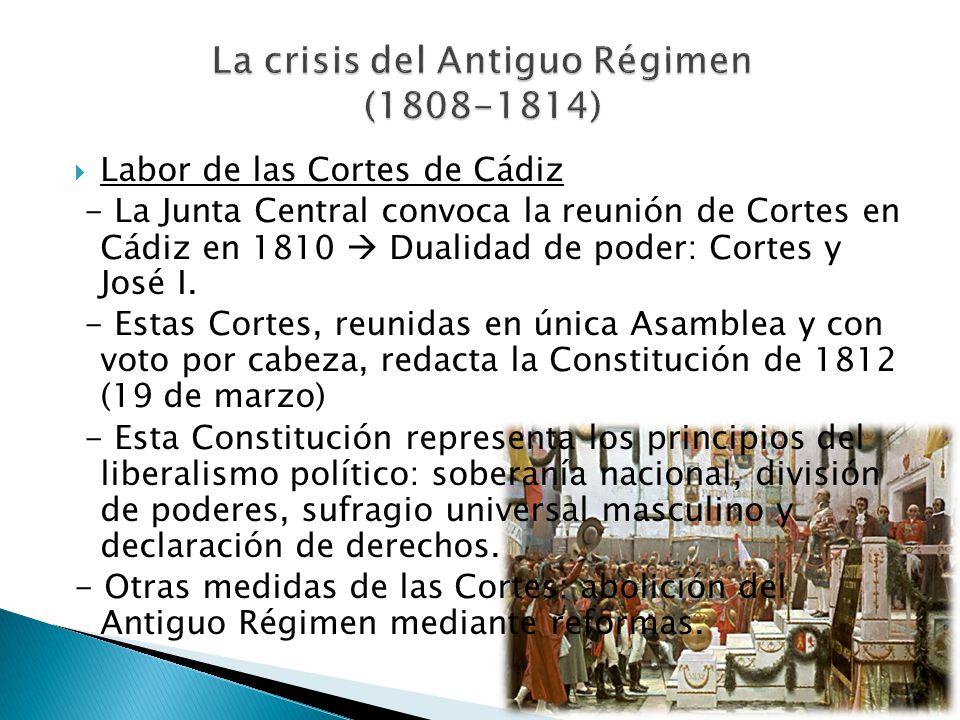 La crisis del Antiguo Régimen (1808-1814)