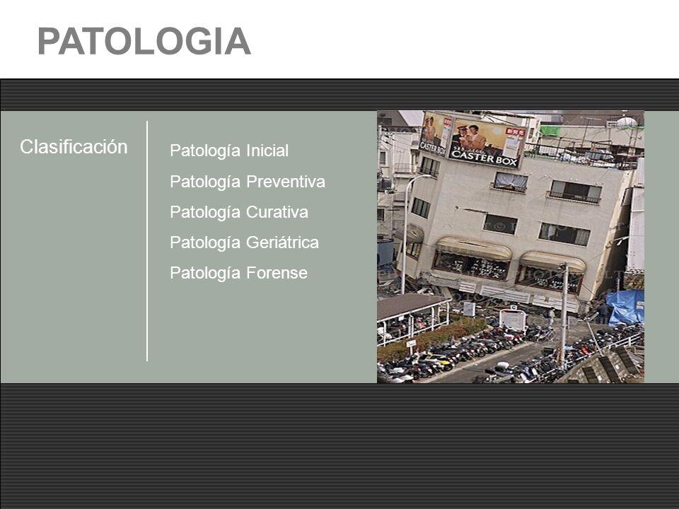 PATOLOGIA Clasificación Patología Inicial Patología Preventiva
