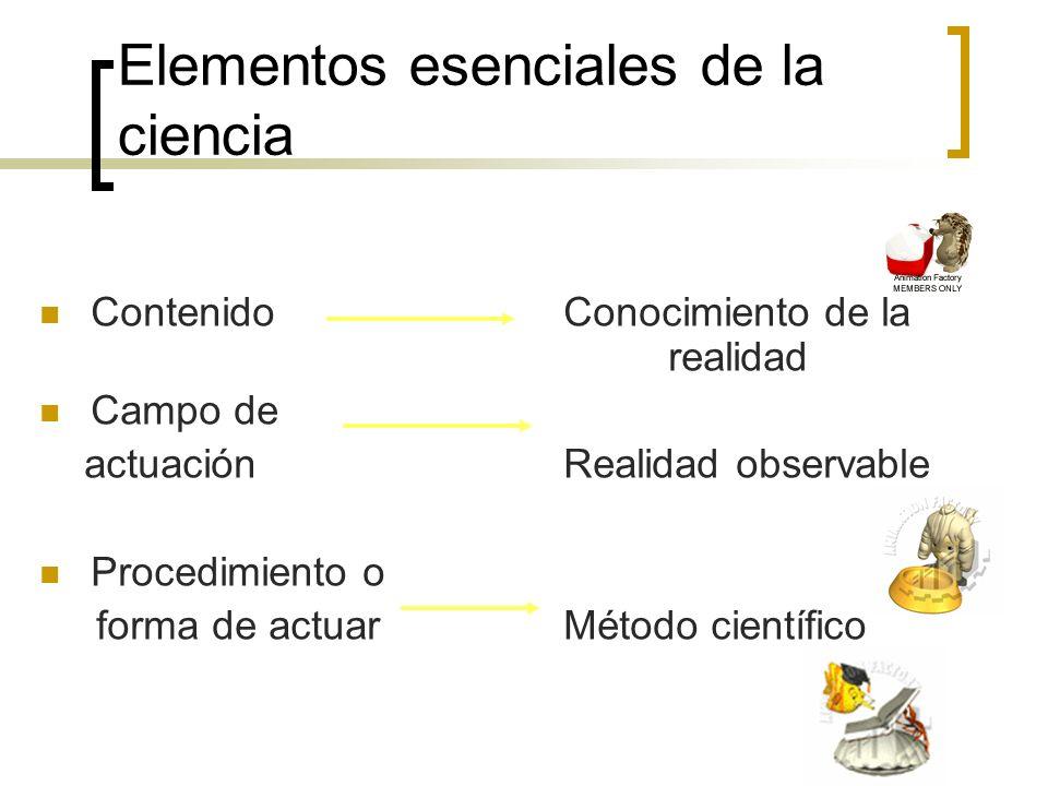 Elementos esenciales de la ciencia