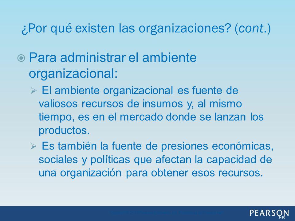 ¿Por qué existen las organizaciones (cont.)