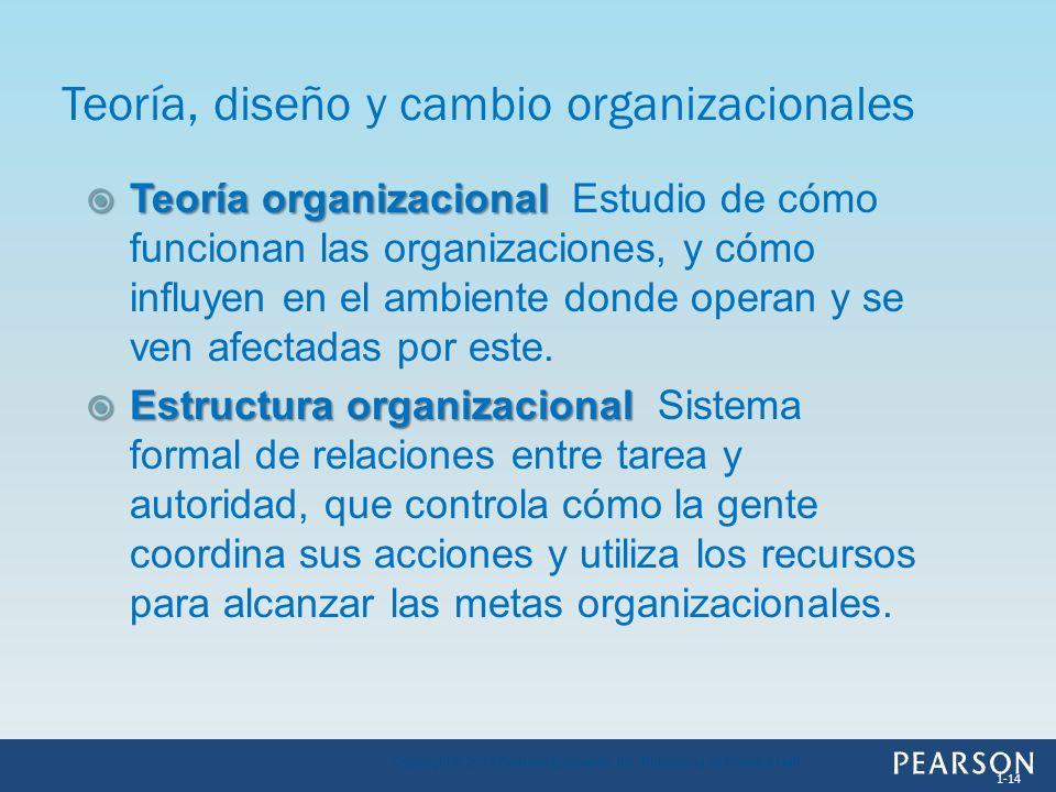 Teoría, diseño y cambio organizacionales