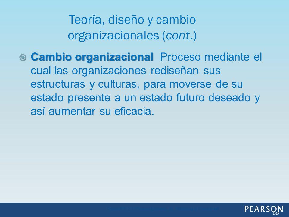 Teoría, diseño y cambio organizacionales (cont.)