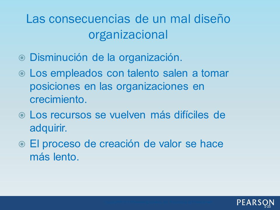 Las consecuencias de un mal diseño organizacional