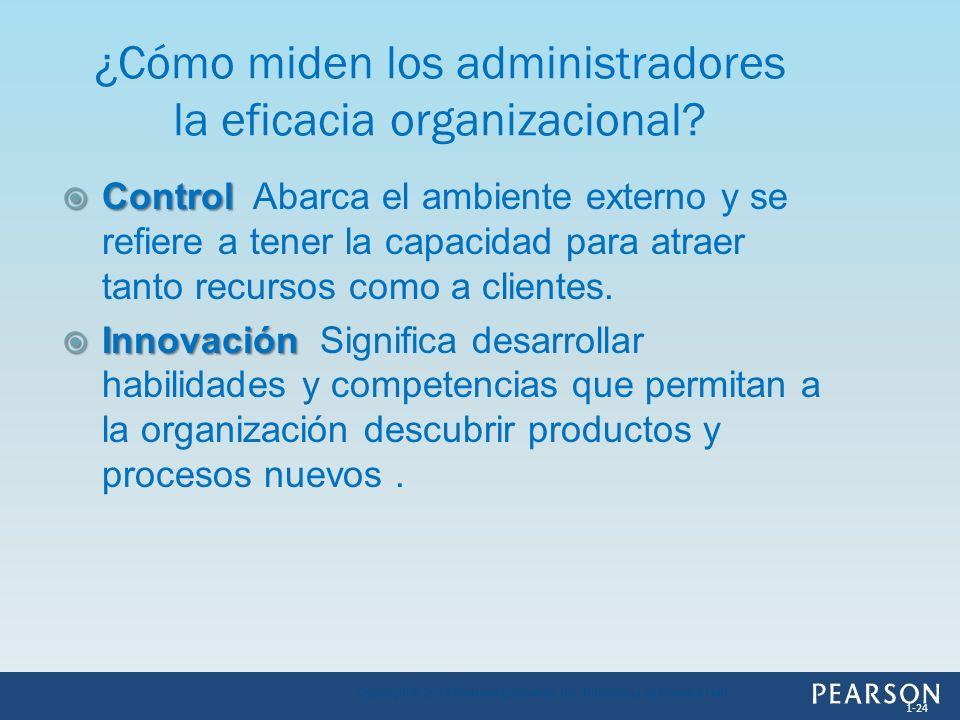 ¿Cómo miden los administradores la eficacia organizacional