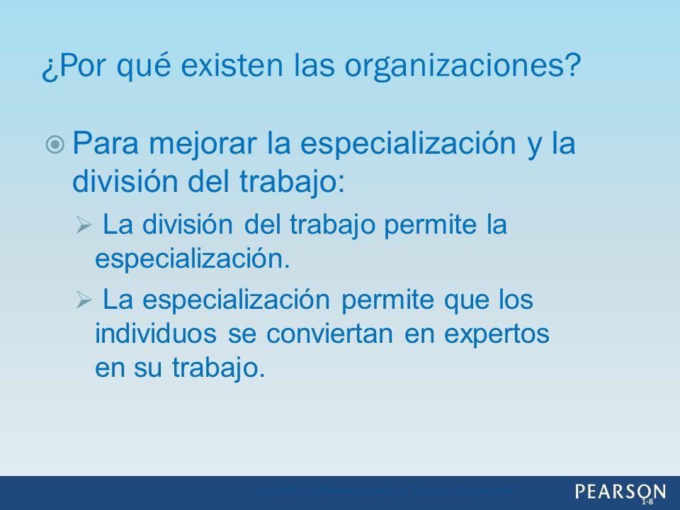 ¿Por qué existen las organizaciones