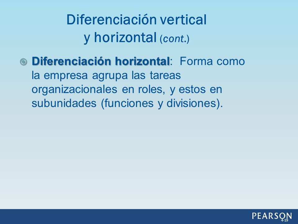 Diferenciación vertical y horizontal (cont.)