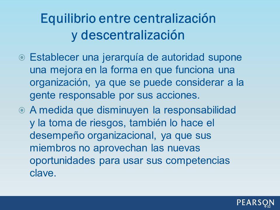 Equilibrio entre centralización y descentralización