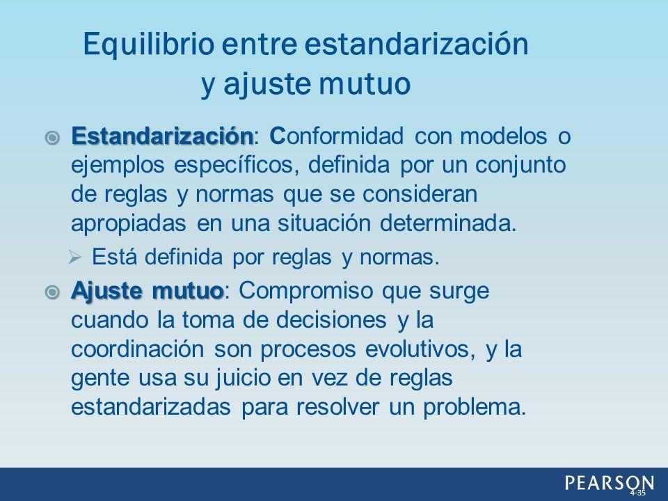 Equilibrio entre estandarización y ajuste mutuo