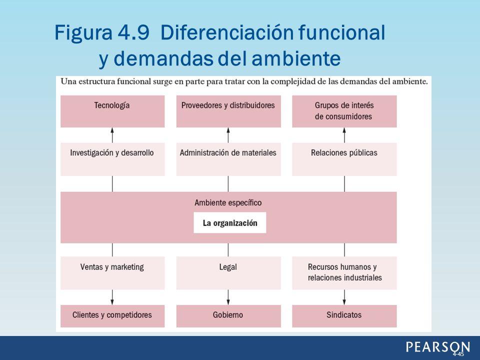 Figura 4.9 Diferenciación funcional y demandas del ambiente