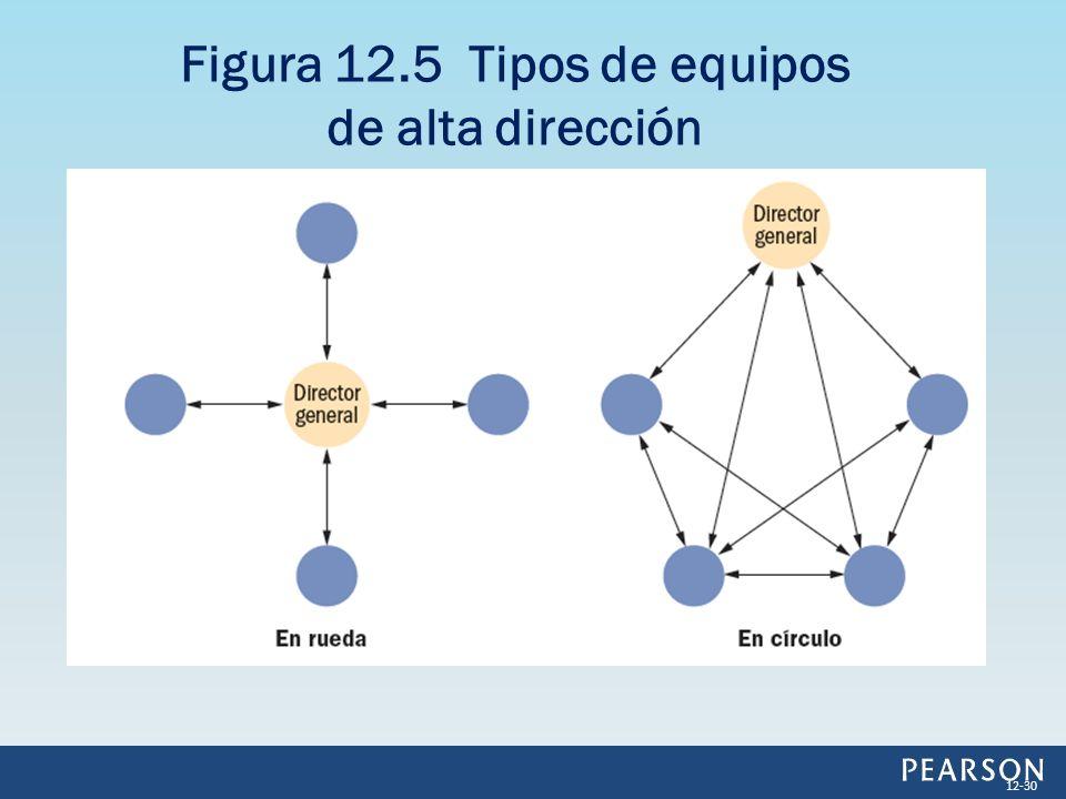 Figura 12.5 Tipos de equipos de alta dirección