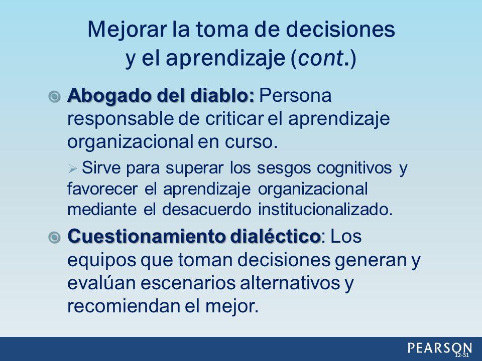 Mejorar la toma de decisiones y el aprendizaje (cont.)