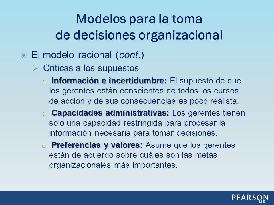 Modelos para la toma de decisiones organizacional