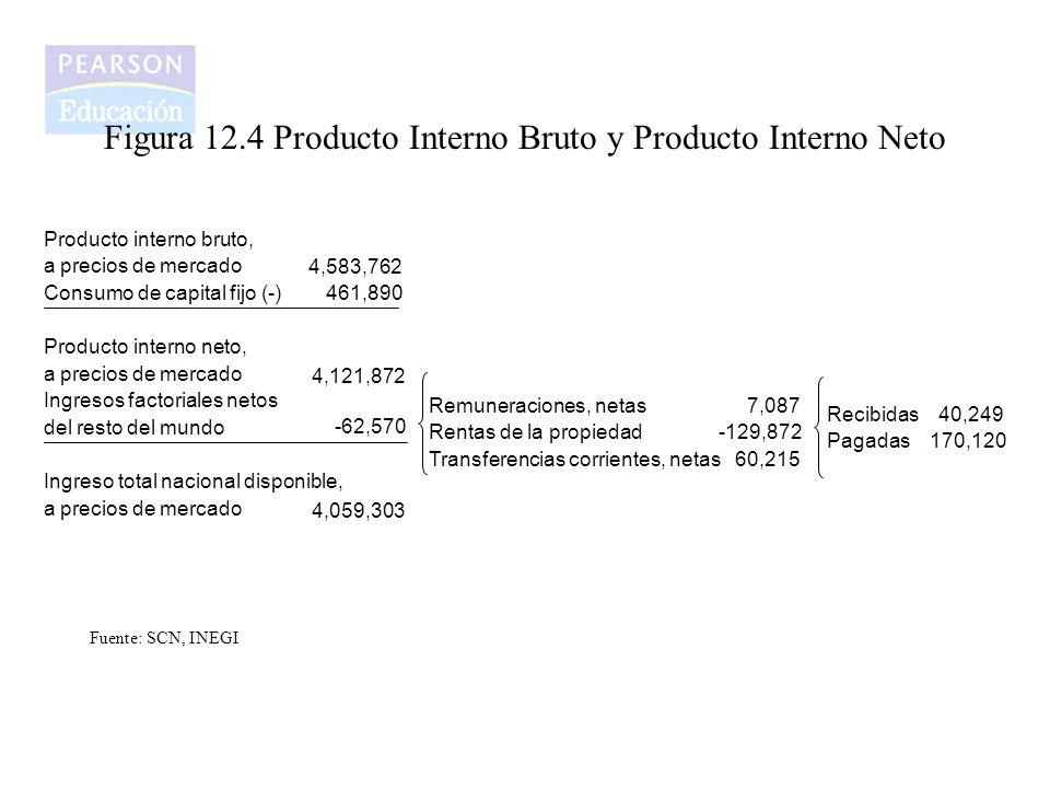 Figura 12.4 Producto Interno Bruto y Producto Interno Neto