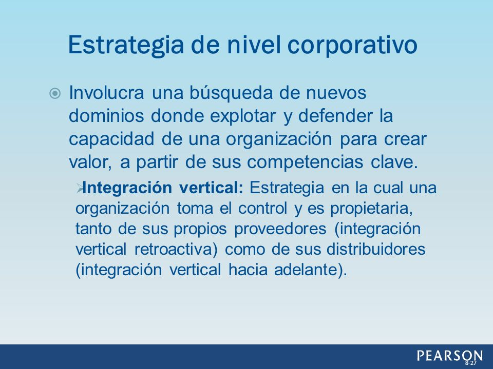 Estrategia de nivel corporativo