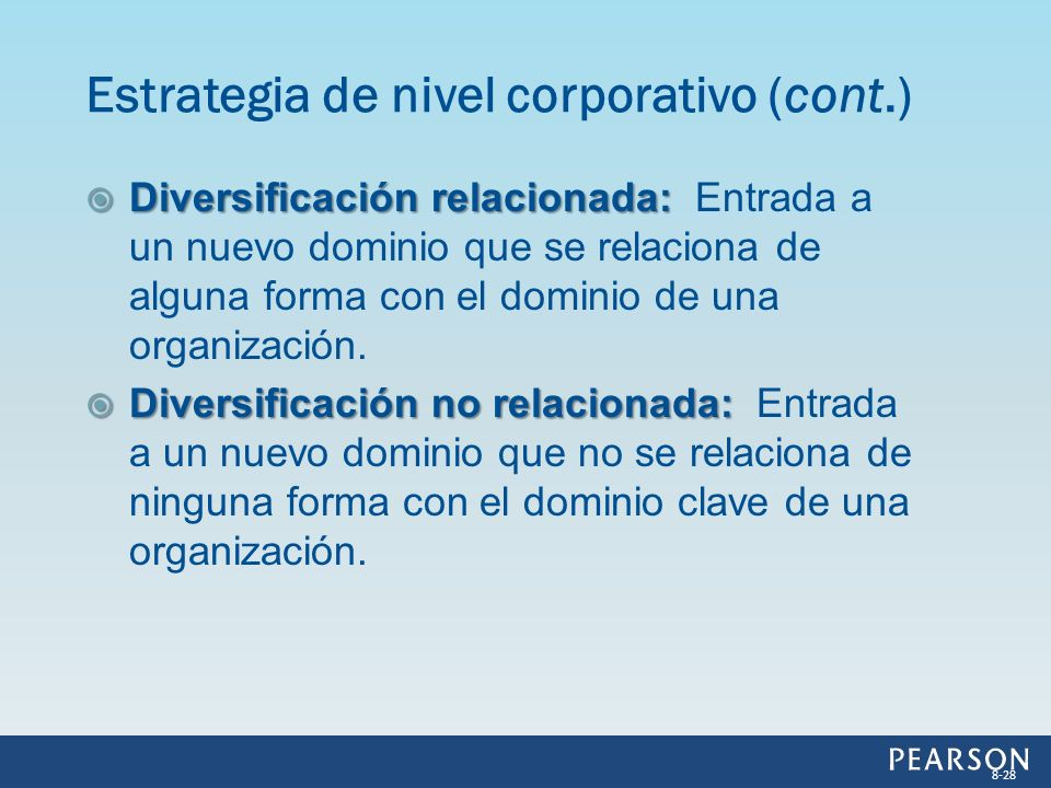 Estrategia de nivel corporativo (cont.)