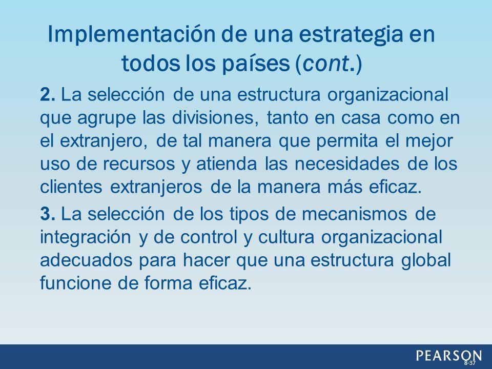 Implementación de una estrategia en todos los países (cont.)