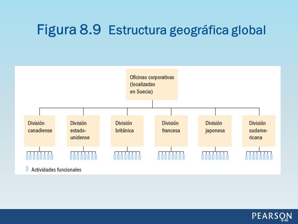 Figura 8.9 Estructura geográfica global