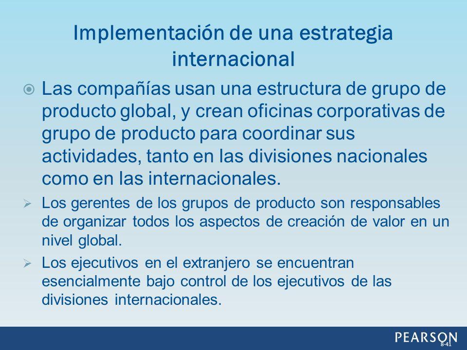 Implementación de una estrategia internacional