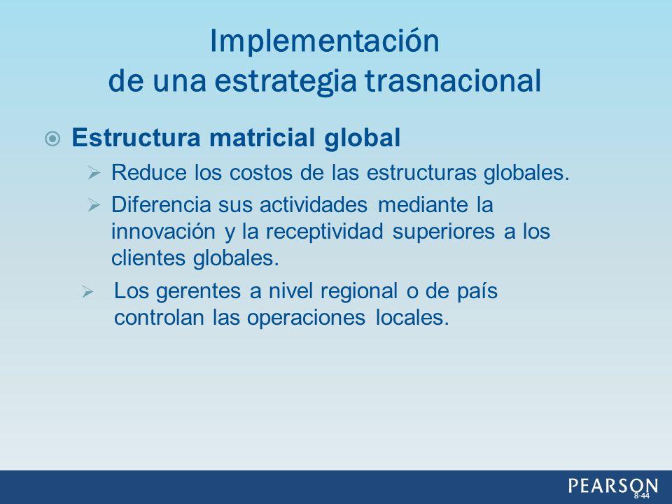 Implementación de una estrategia trasnacional