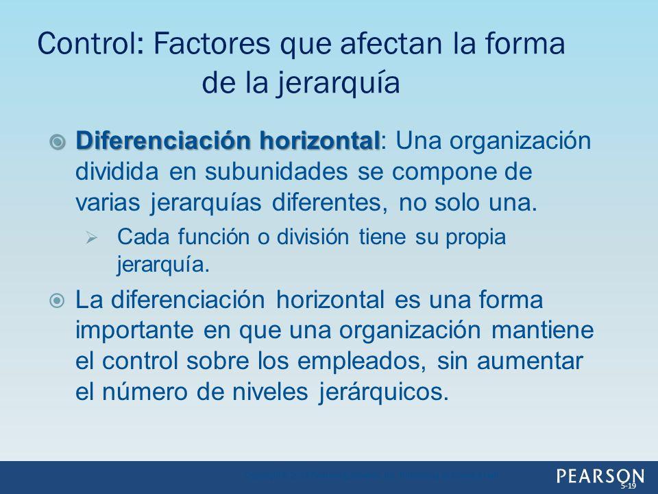 Control: Factores que afectan la forma de la jerarquía