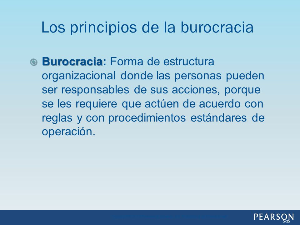 Los principios de la burocracia
