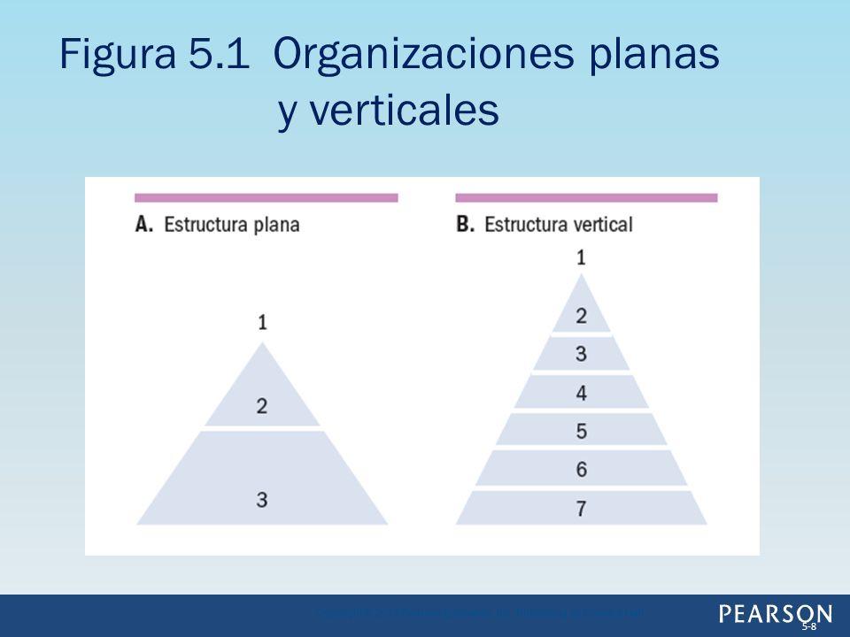 Figura 5.1 Organizaciones planas y verticales
