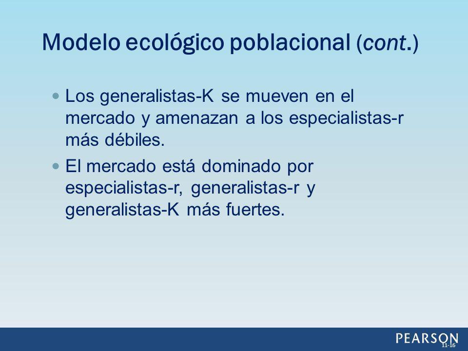 Modelo ecológico poblacional (cont.)