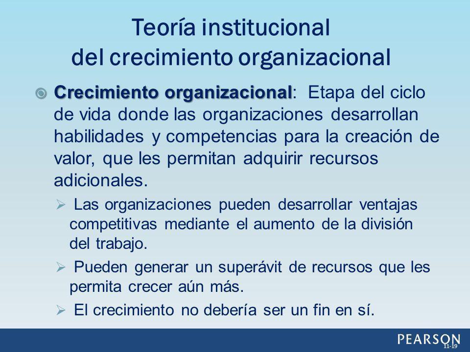 Teoría institucional del crecimiento organizacional
