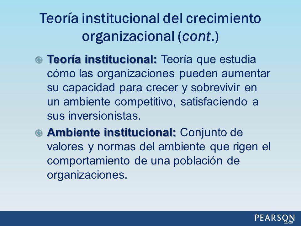 Teoría institucional del crecimiento organizacional (cont.)