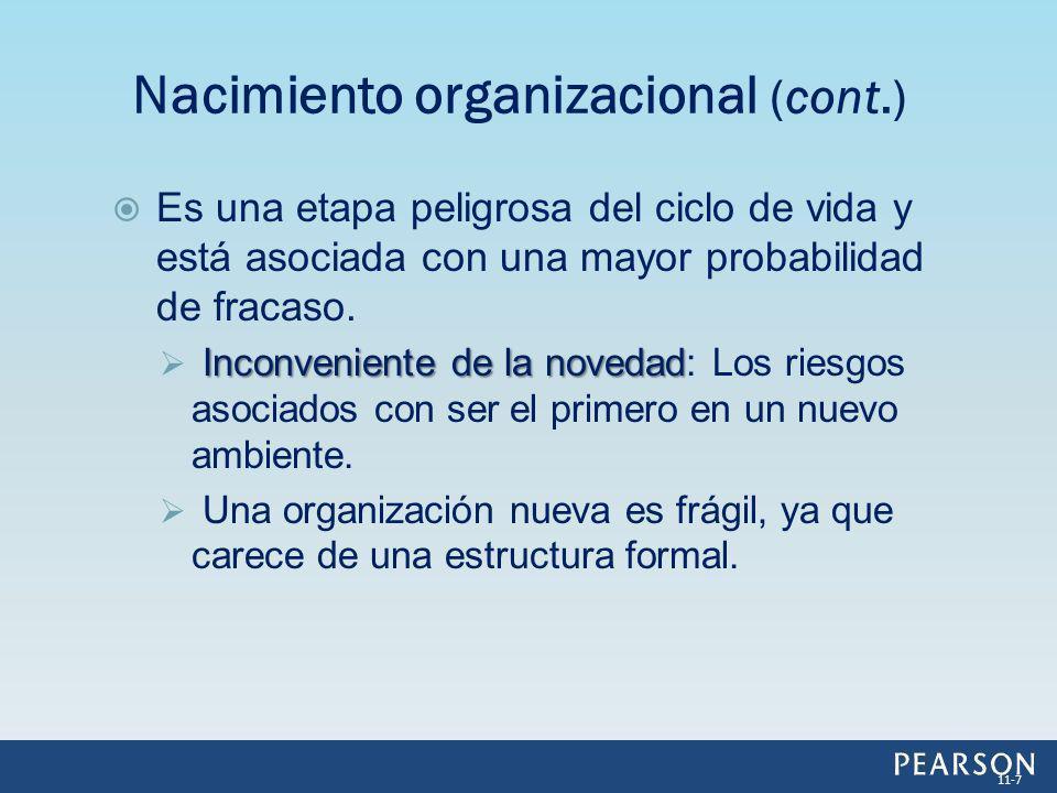 Nacimiento organizacional (cont.)