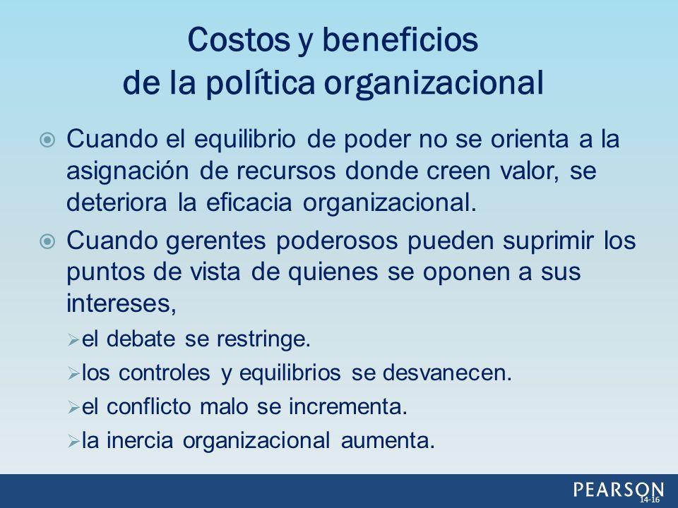 Costos y beneficios de la política organizacional
