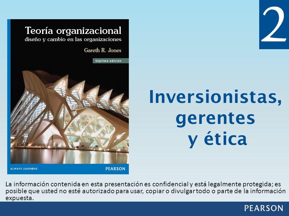 Inversionistas, gerentes y ética