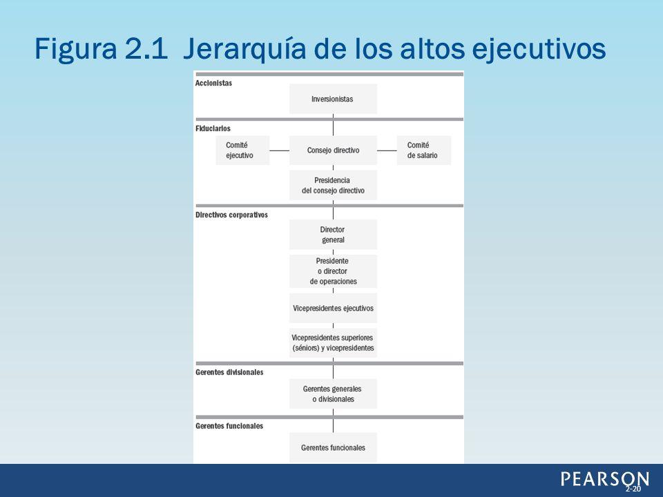 Figura 2.1 Jerarquía de los altos ejecutivos
