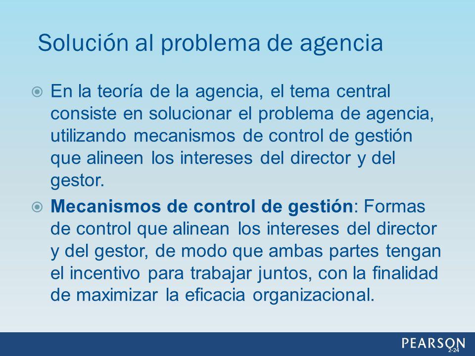 Solución al problema de agencia