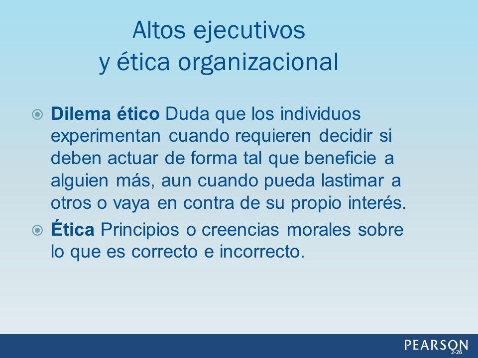 Altos ejecutivos y ética organizacional