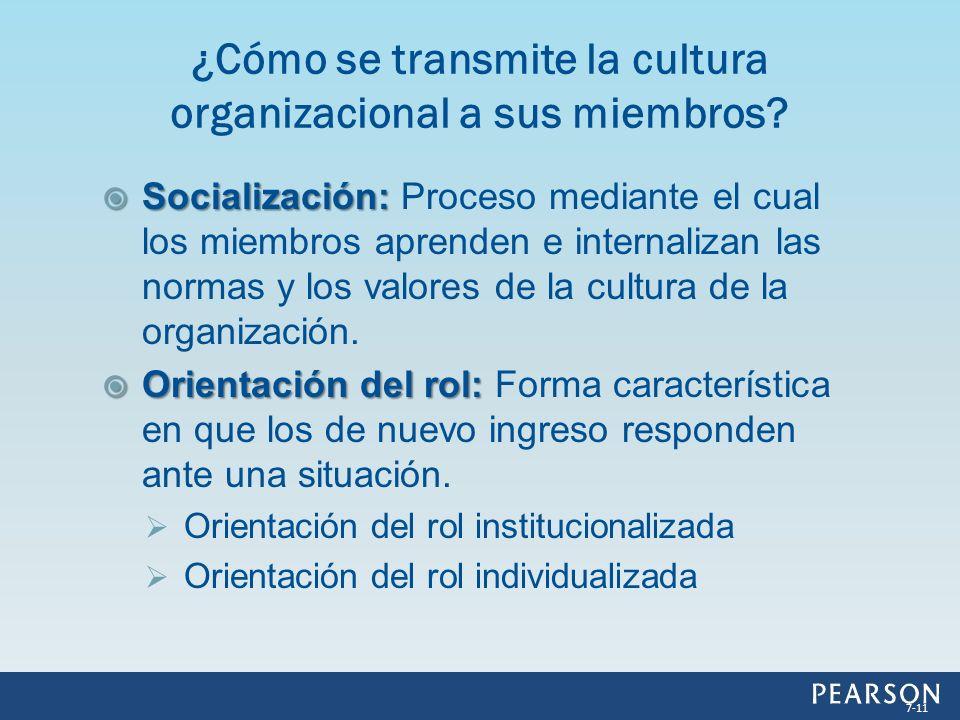 ¿Cómo se transmite la cultura organizacional a sus miembros