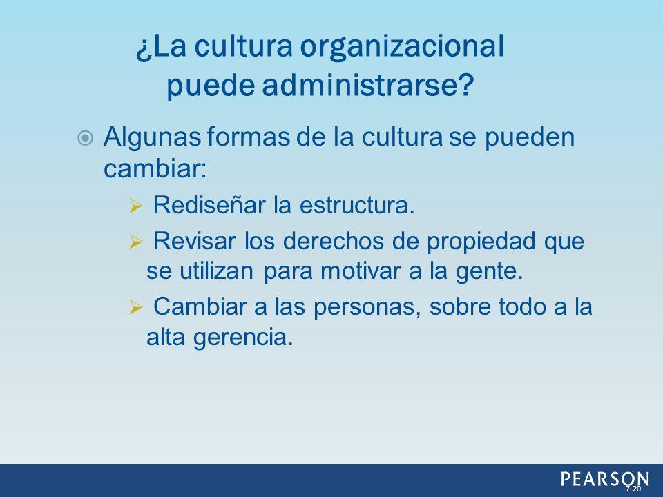 ¿La cultura organizacional puede administrarse