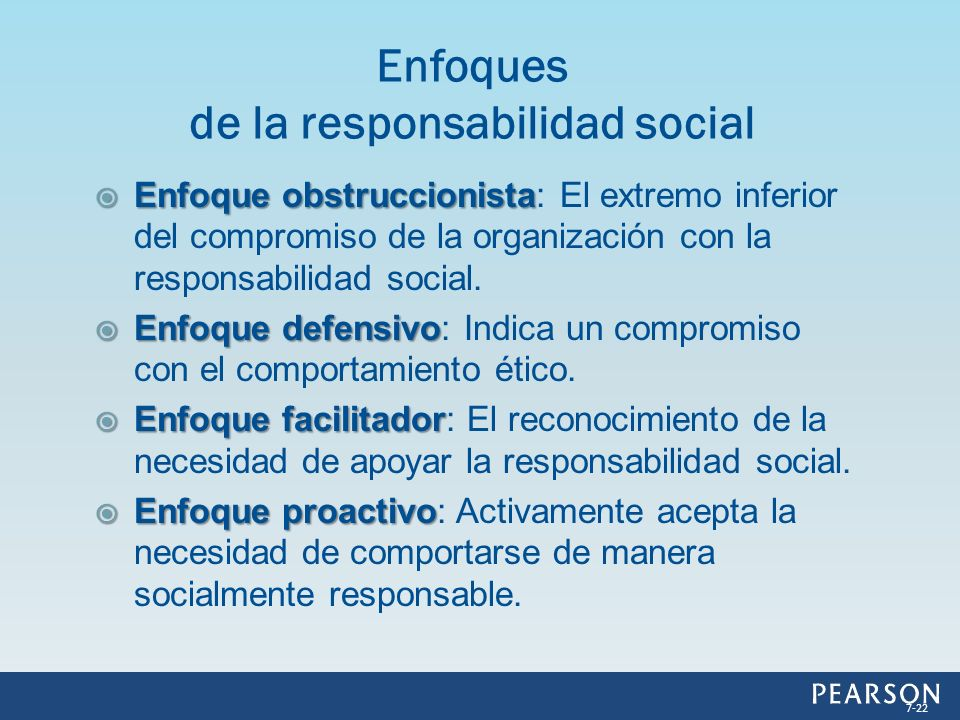 Enfoques de la responsabilidad social