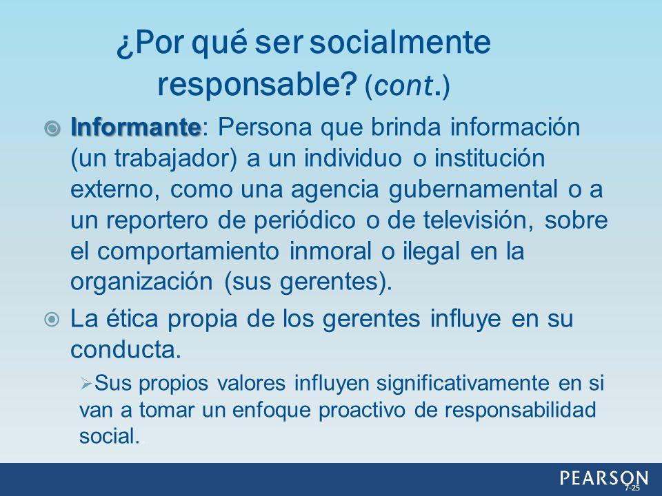 ¿Por qué ser socialmente responsable (cont.)
