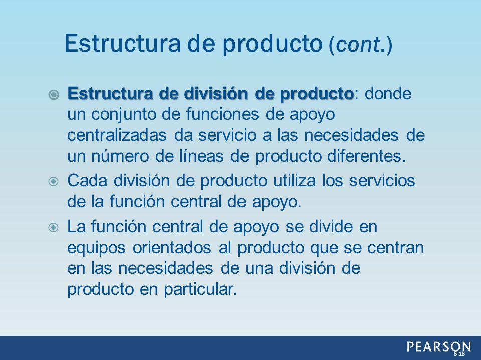 Estructura de producto (cont.)