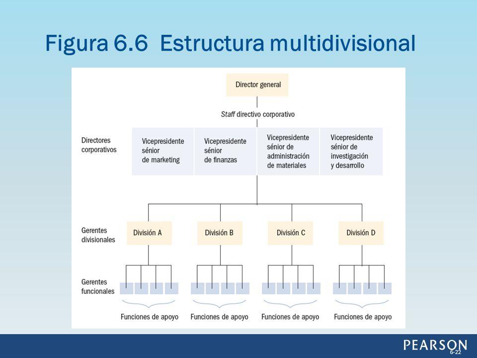 Figura 6.6 Estructura multidivisional